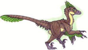 Cartoony Deinonychus by EWilloughby