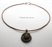 Copper collar necklace by Linuziux