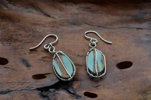 Turquoise Ribbon Wr Earrings 1 by lamorth-the-seeker