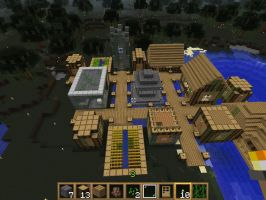 minecraft screenshot swamp village mk2 by falcon01