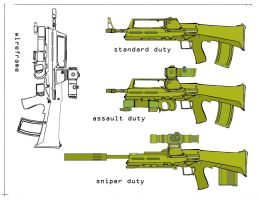 Assault rifle designs revised by Loki-god-of-malice