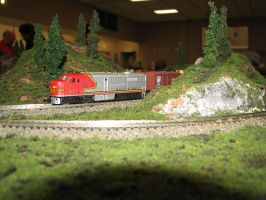 Model Power N scale ATSF FA-2 2 by TaionaFan369