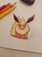 Flareon drawing by atta9