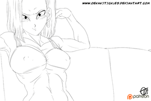 Android 18 Foot Tease ANIMATION Part 1 - DBZ by OekakiTickles