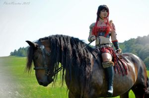 Warrior in red by PhotoNovotna
