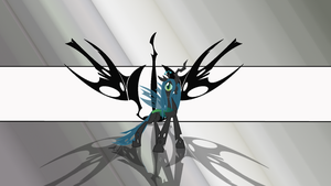 Queen Chrysalis Wallpaper by daughterdragon