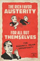 Austerity Poster by indyjonas