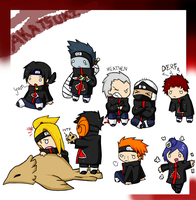 Akatsuki Chibi Love by Septic-Kitty
