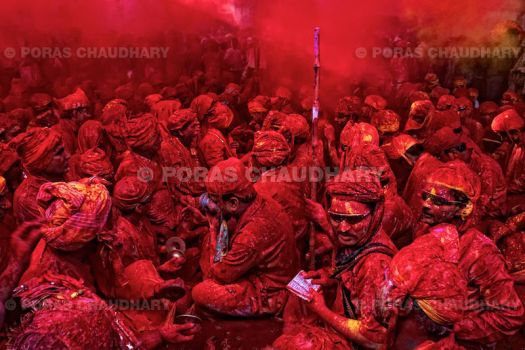 Red Everywhere, Holi, India by poraschaudhary