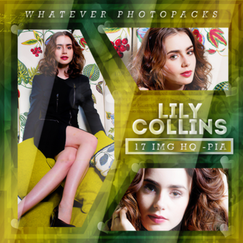 +Photopack: Lily Collins by Whatever-Photopacks