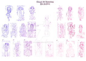 All Elouai Sketches Dump by SoraniSasayaku