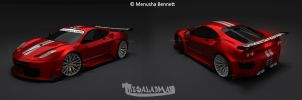 Ferrari F430 GTR Red_Studio by TheSaladMan