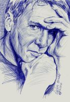 Harrison Ford Ballpoint Pen by AngelinaBenedetti
