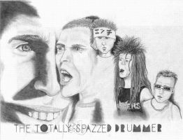 the totally spazzed drummer by paintitblack