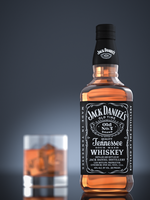 Jack Daniels Bottle 3D Product Shot by Patryk567