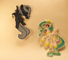 Luna and Celestia Patches by Apencilsmind