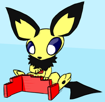 Daily Draw Leftovers: Pichu with LEGO(s) by hlavco
