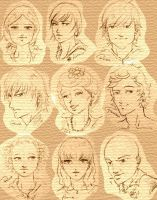 Characters of THG by FilliNoctis