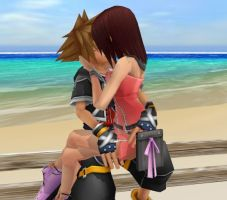 Sora Kairi Kiss by SorasPrincesss