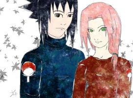 Sasusaku photo color by MikotoSakura