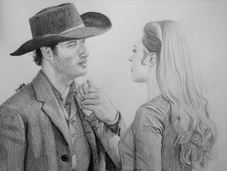 Teddy and Dolores (Westworld) by DutchCow
