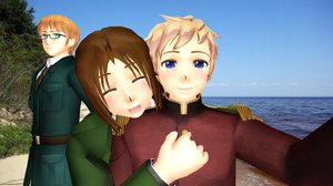 [MMD] At the Sea. Let's take a picture! by Riku-Love