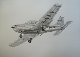 Piper Warrior G-BUIF by NorthumbriaArt