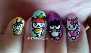 Hello Kitty Nails pt 1 by SoCUTEicleNails