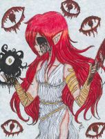 CREEPYPASTA ORIGIN COVER: The Blind Oracle by InvaderIka