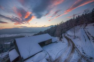 Winter Sunset @Home by mprox