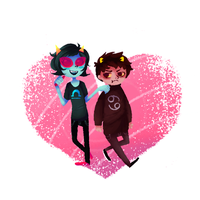 Terezi and Karkat by Calallini