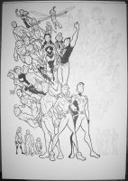 Legion Of Superheroes WIP 4 by BevisMusson