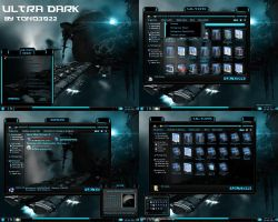 windows 7 theme blue glass (ultra dark) by customizewin7