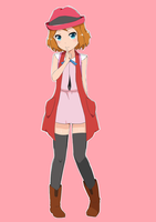 Short Hair Serena (anime style coloring) by ryuzakura