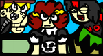 Me, E.J., And Randy In Sonic CD Style by TheGr8estOne