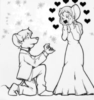 Art Request : The proposal by doraemonbasil