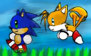 Sonic and tails by Psyche-Angel