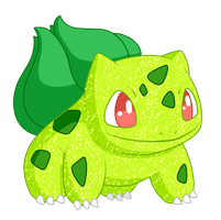 Shiny Bulbasaur - #001 by RandomDrawerOfArt