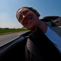 Driving Topless 2 - Happy Dog by esbenlp