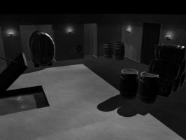 House on Haunted Hill Basement by OrganBoy