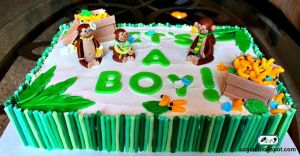 Monkey Baby Shower Cake by SugiAi