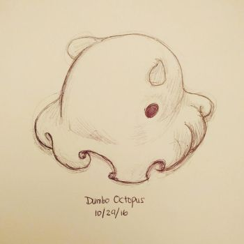 Inktober day 29 - Dumbo Octopus by meihua