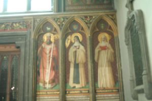 wall paintings in cathedral Liege by ingeline-art