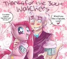 ~300 Watchers~ Cupcake Pair by xXKikaru-ChanXx