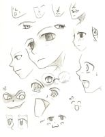 Anime Faces Study by KiaayoTotem
