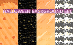 Halloween Background Set (Only 150 Points!) by DaniGhost