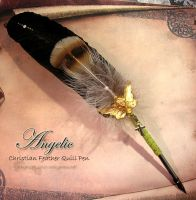 ANGELIC Feather Quill Pen by ChaeyAhne