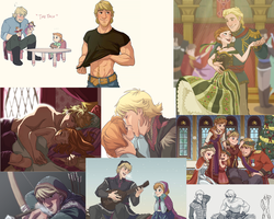 Kristoff and Anna Collage by MorganHudson92