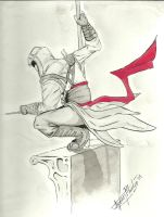 Altair ink painting by Kashek