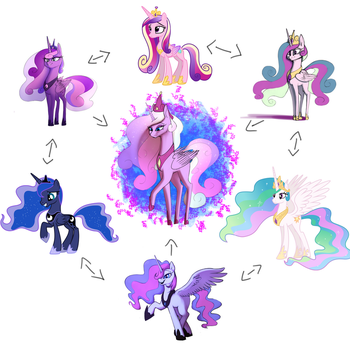 MLP Princesses Trifusion by SandyScarecrow